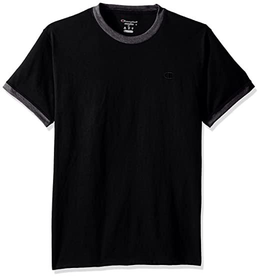 81e996da11b8e0 Amazon.com  Champion Men s Classic Jersey Ringer Tee  Clothing