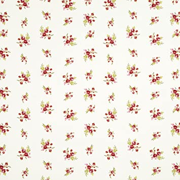 Iliv Floreale Chintz Rot Pretty Muster Baumwolle Stoff Material
