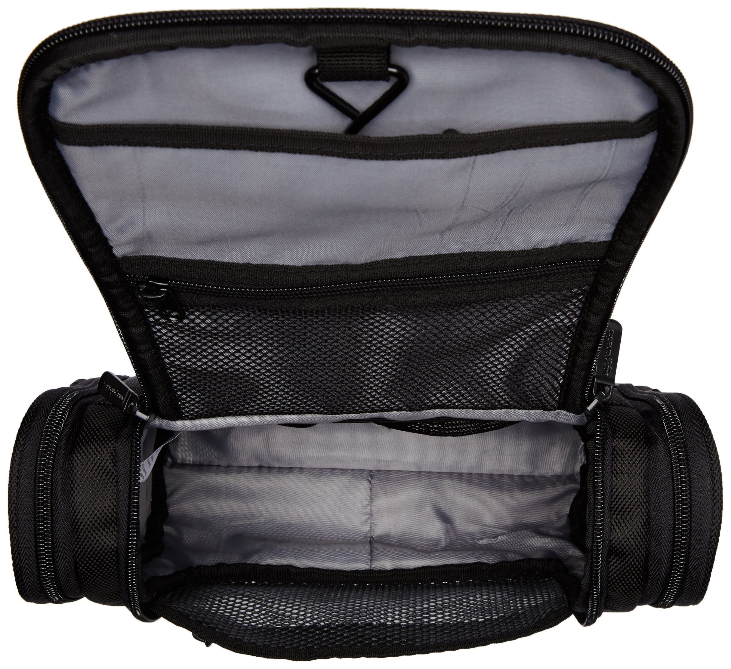 AmazonBasics-Hanging-Toiletry-Kit-Black