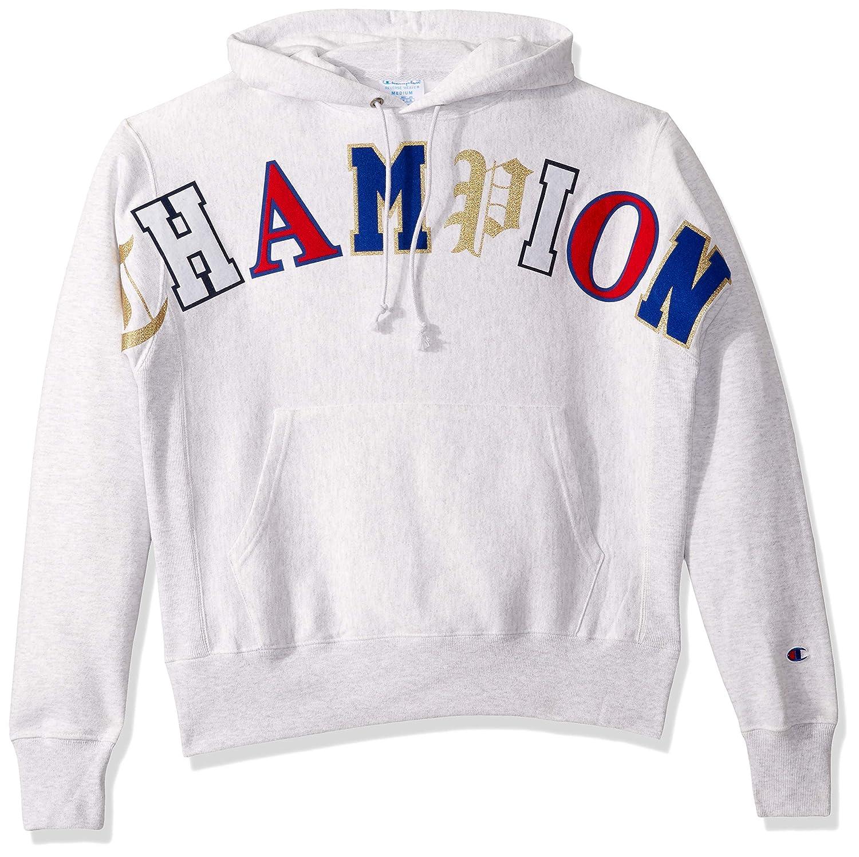 Gfs argent gris W  Old English Lettebague L Champion - Sweat à Capuche Homme