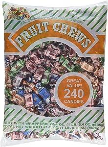 Albert's Chews Fruit Assorted Bag, 240 Piece, 21.2 Ounce