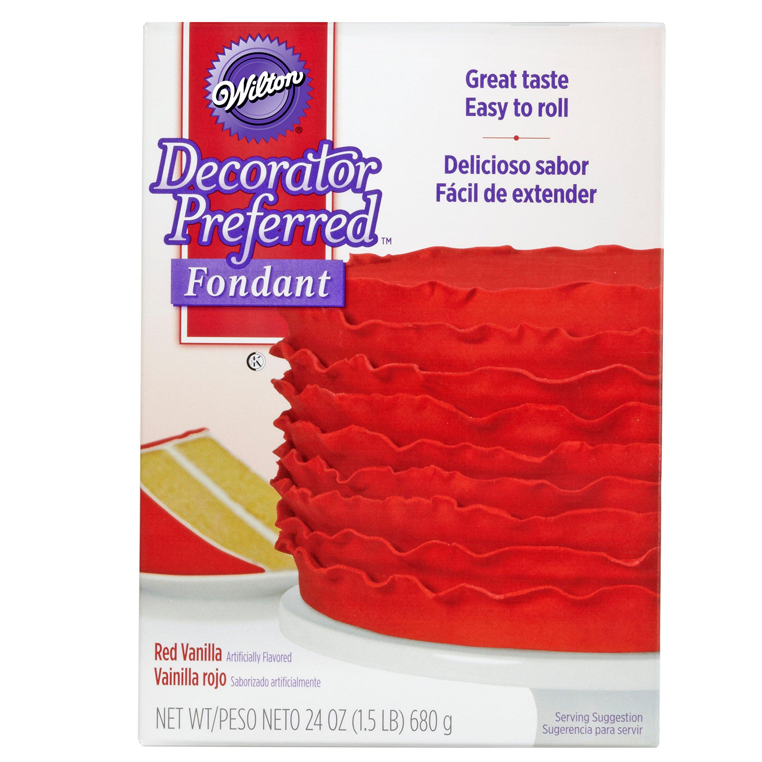 Wilton Decorator Preferred Red Fondant, 24 oz. Fondant Icing by Wilton