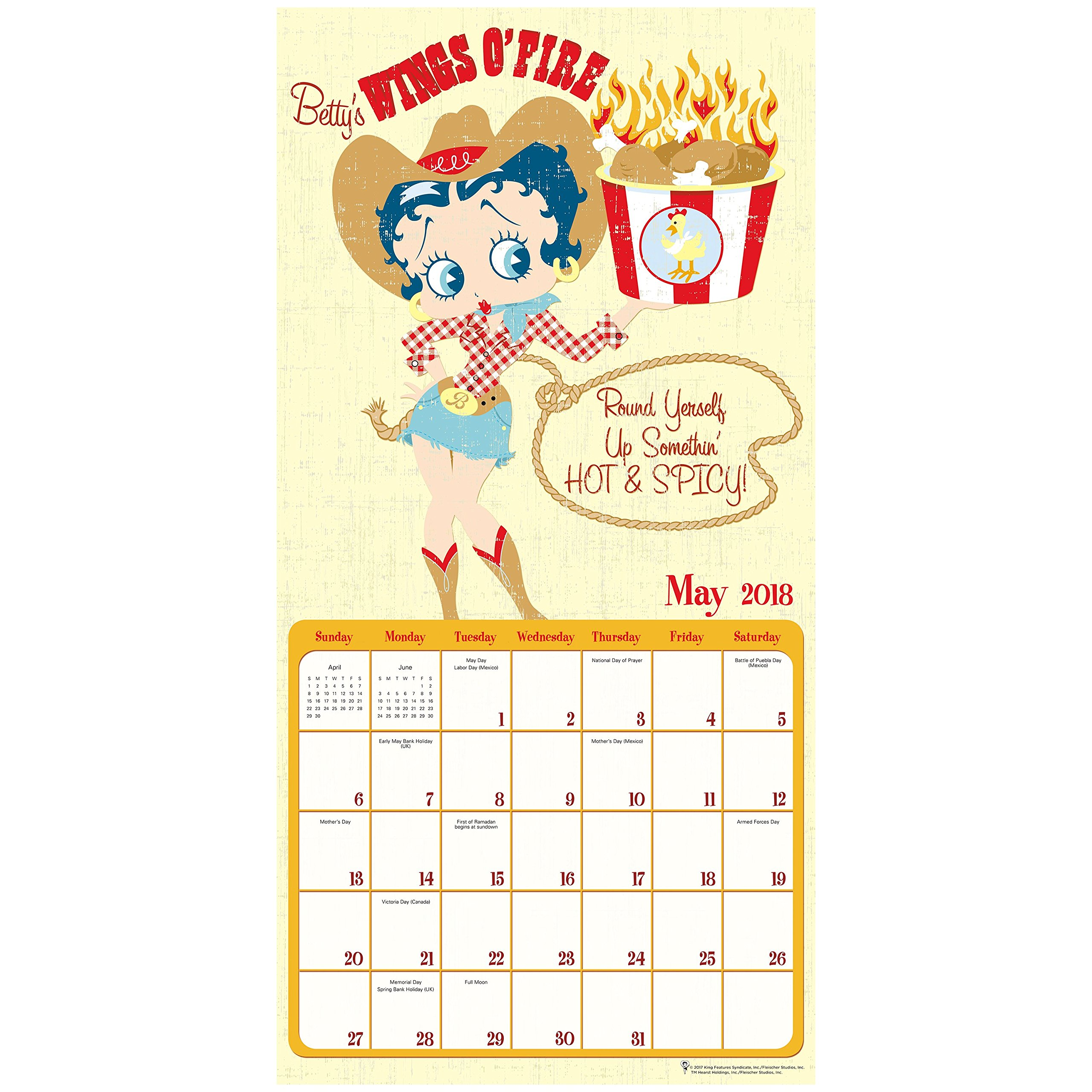 2018 Betty Boop Wall Calendar (Mead): Mead: 9781682096697: Amazon ...