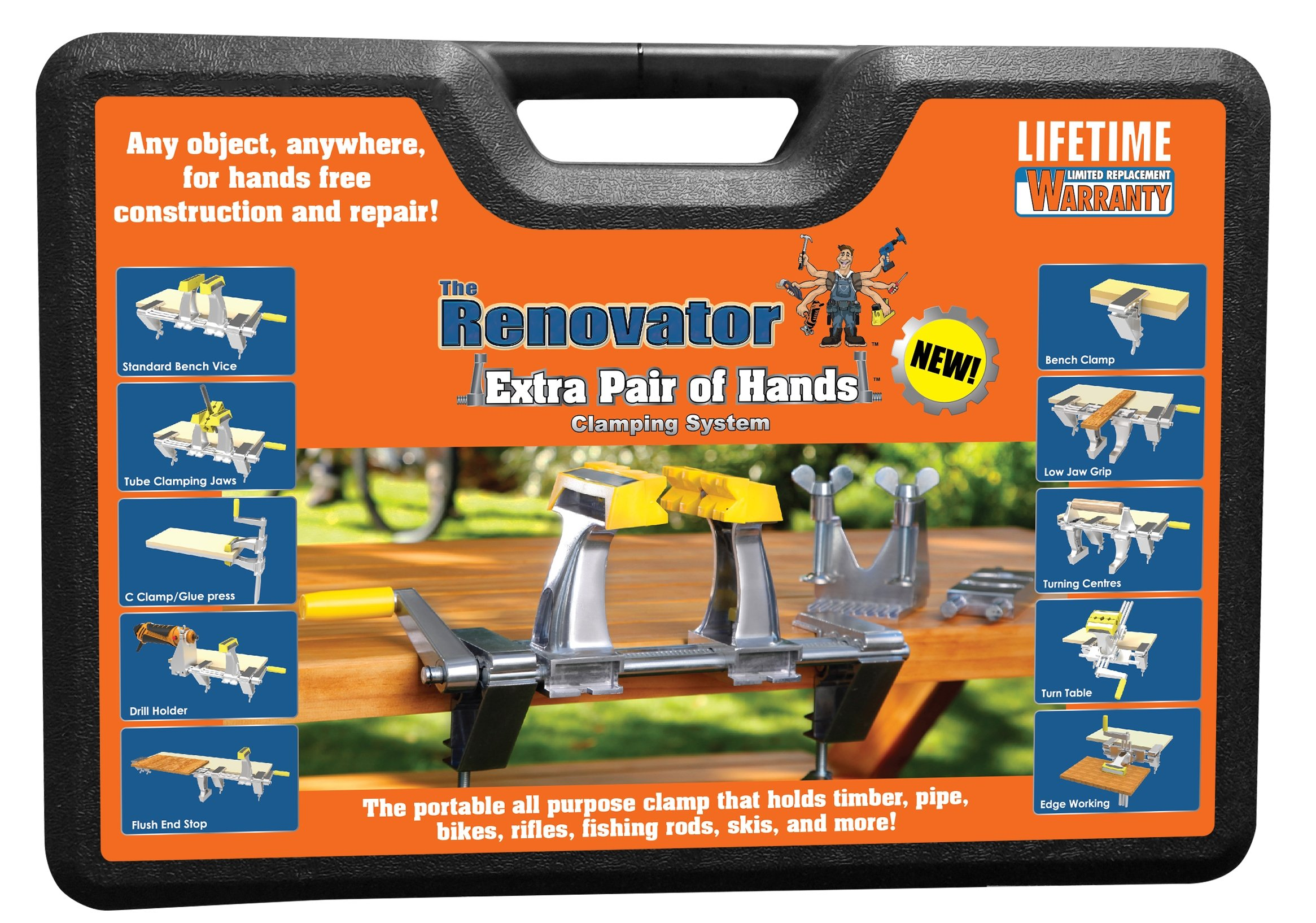 Extra Pair of Hands by Renovator - The World's Most Versatile, Portable, Patented Clamping System That Holds Your Work, So You Can Do Your Work by Renovator (Image #1)
