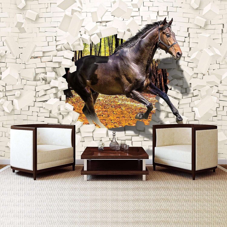 152,5cm. x 104cm. orange jaune VEL Gris Forwall AMF20286/_VE Papier peint intiss/é Motif cheval marron Non-tiss/é