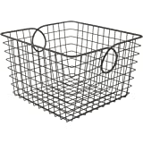 Spectrum Diversified 09976 Teardrop Basket, Large, Industrial Gray