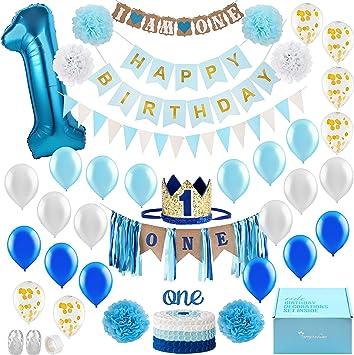 Amazon.com: Decoración para bebé de primer cumpleaños con ...