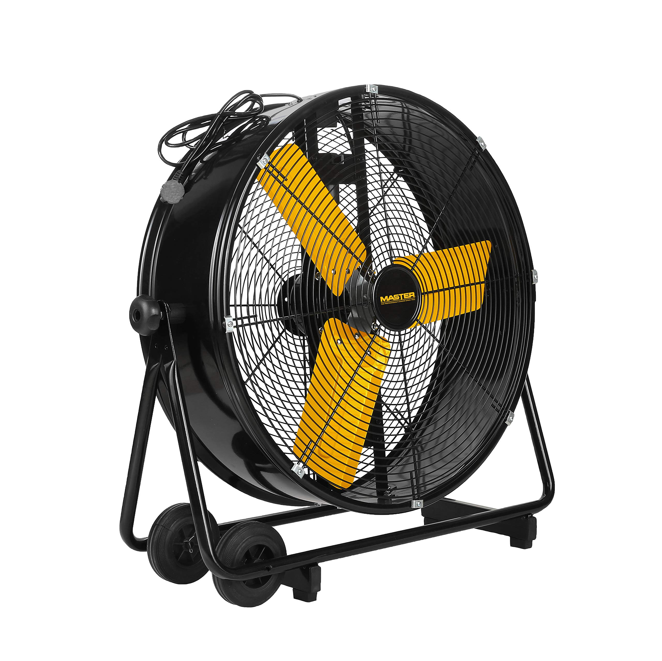 Master PROFESSIONAL Master MAC-24DCT-EP, Heavy Duty, High Velocity 24'' tiltable barrel fan, Black by Master PROFESSIONAL