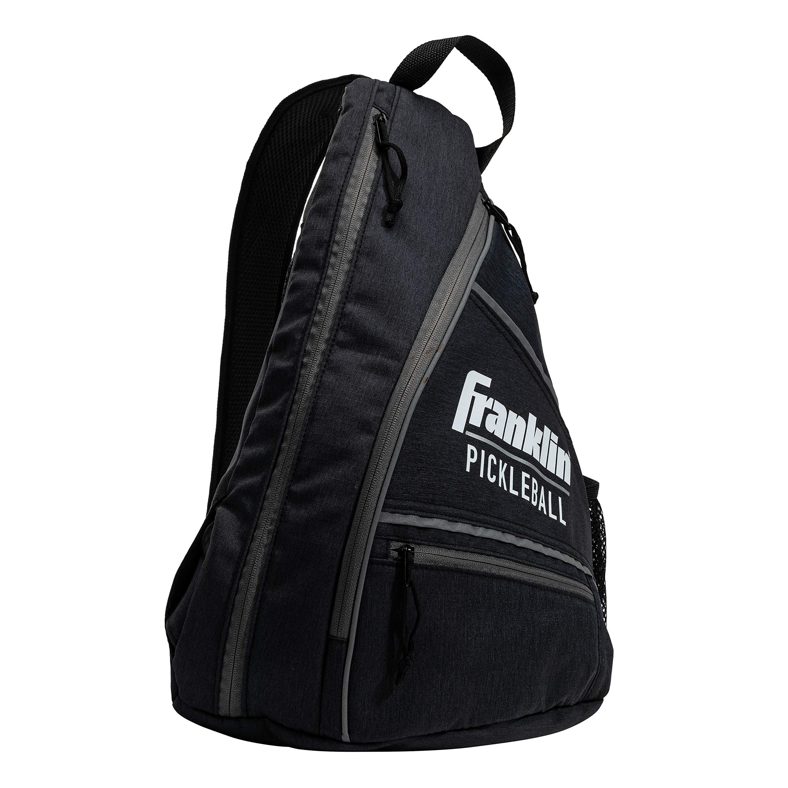 Franklin Sports Pickleball Sling Bag - Official Pickleball Bag of The U.S. Open Pickleball Championships - Adjustable - Charcoal Gray by Franklin Sports