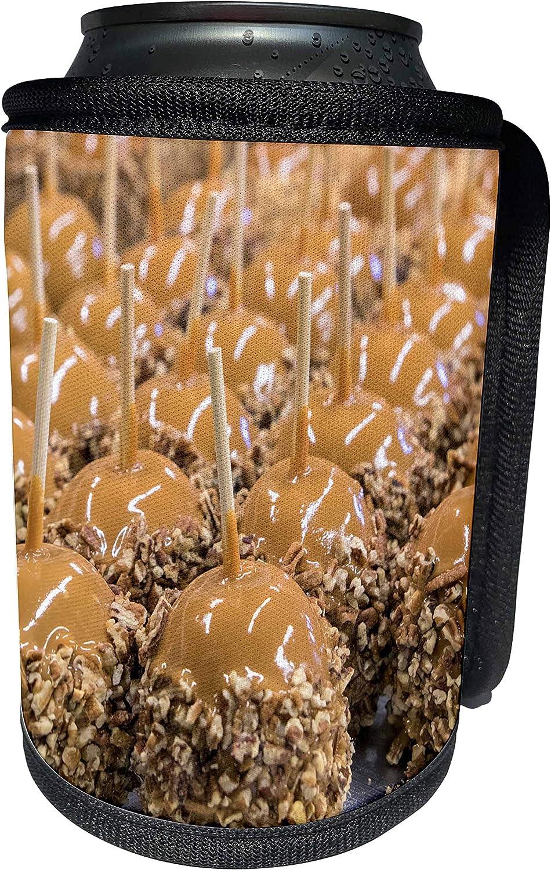 3dRose Danita Delimont - Food - Carmel apples for sale, Savannah, Georgia - Can Cooler Bottle Wrap (cc_278913_1)