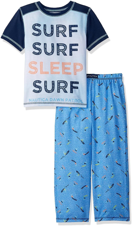 Nautica Boys' Big Sleep Surf 2 Piece Pajama Set