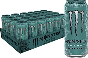 Monster Energy Ultra Fiesta, Sugar Free Energy Drink, 16 Ounce (Pack of 24)
