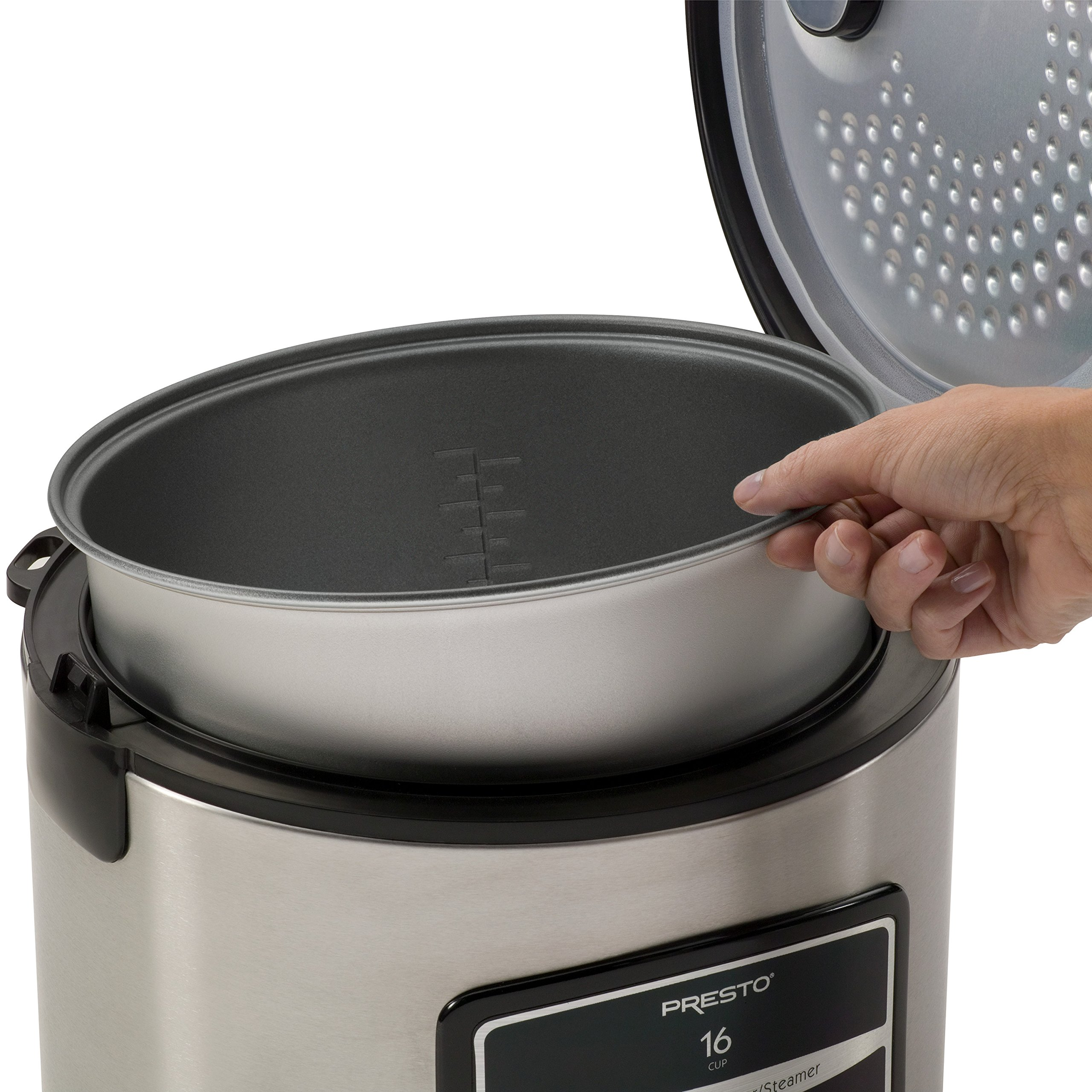 Presto 05813 16-Cup Digital Stainless Steel Rice Cooker/Steamer by Presto