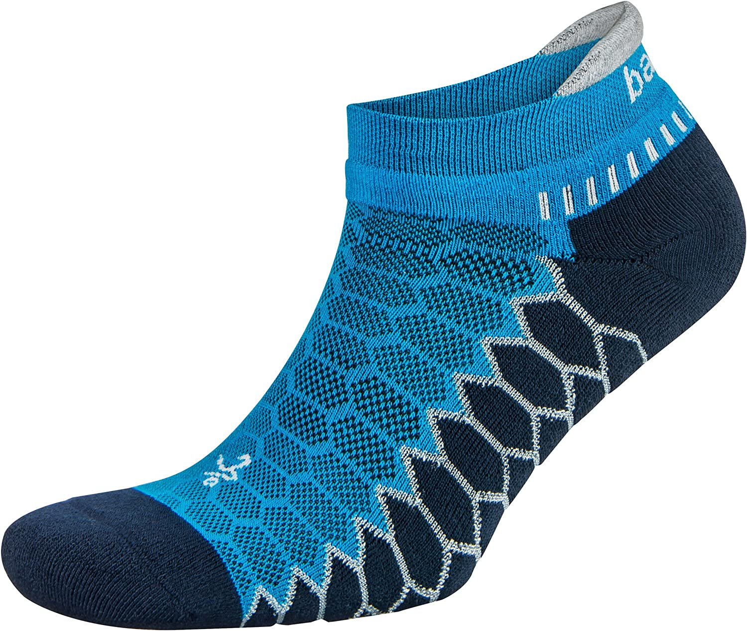 1 Pair Balega Silver Antimicrobial No-Show Compression-Fit Running Socks for Men and Women