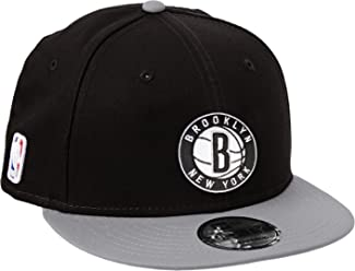 New Era Mens Nba Team 9Fifty Brooklyn Nets Offical Team Colour Baseball Cap, Black,