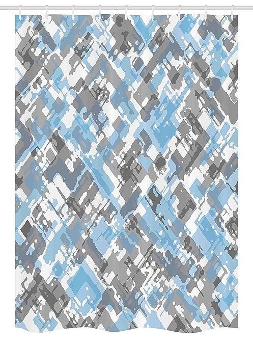 Arredo Bagno Colore Azzurro.Geometric Decor Stall Shower Curtain By Ambesonne Grunge Moderno