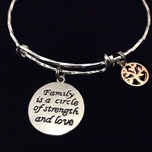 Amazon Family Is A Circle Of Strength And Love Expandable Charm