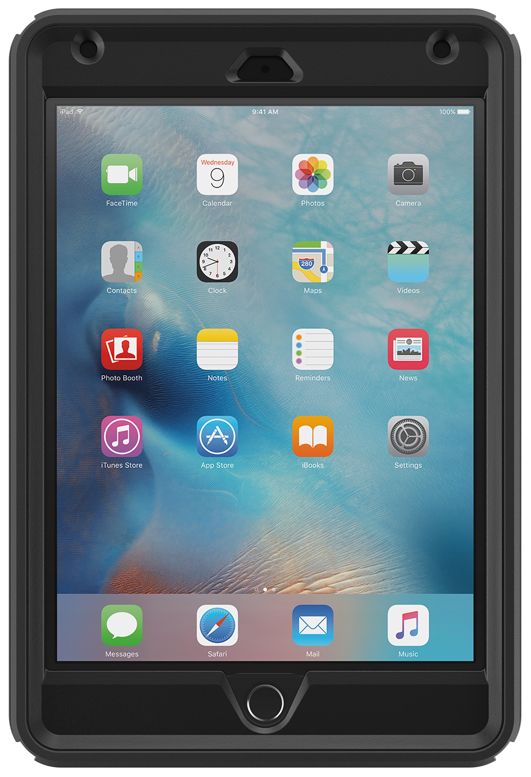 OtterBox DEFENDER SERIES Case for iPad Mini 4 (ONLY) - Retail Packaging - BLACK by OtterBox (Image #2)