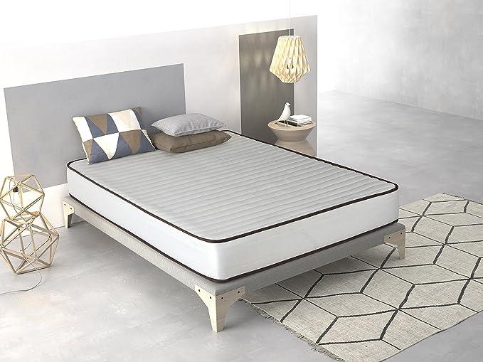 Imperial Confort- Colchón Basic - 80 x 180 x 15 cm - Color blanco: Amazon.es: Hogar
