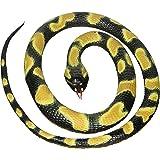 Wild Republic 20775Serpent en caoutchouc Petite boule Python 117cm, Noir, Jaune