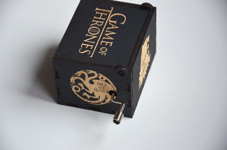 Amazon wood engraved music box game of thrones main theme