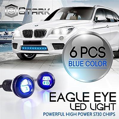 Eagle Eye 18mm 5730SMD High Power LED Fog Light DRL Backup Signal Bulbs - Blue (6 Pieces): Automotive