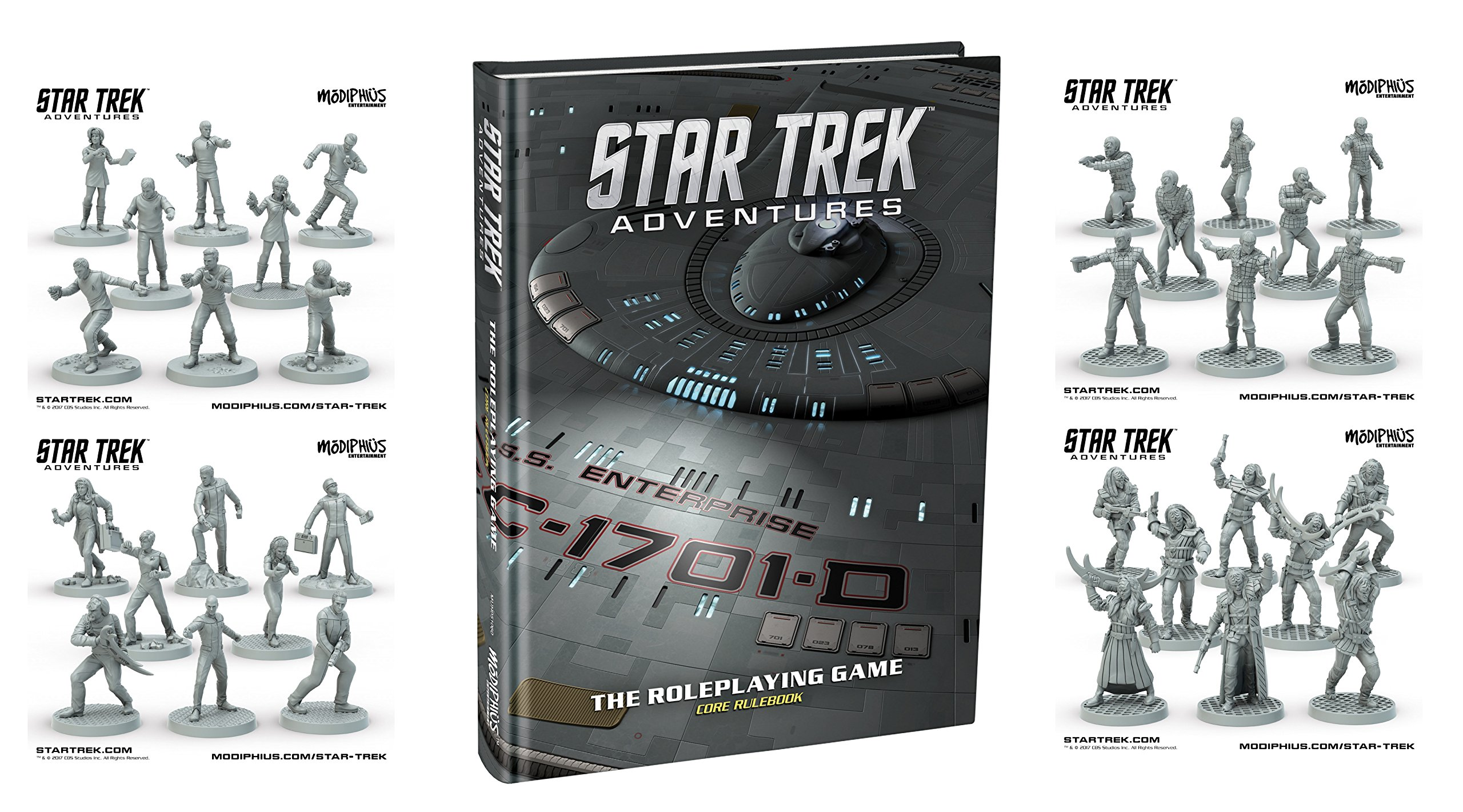 Star Trek Adventures Collector's Edition Core Rulebook + The Original Series, The Next Generation, Klingon Warband & Romulan Strike Team Miniatures