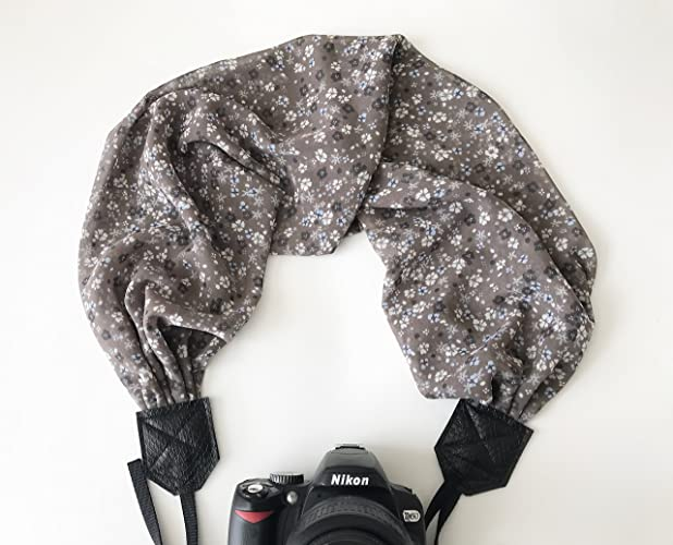 Amazon Scarf Camera Strap For Digital Cameras Brown And White