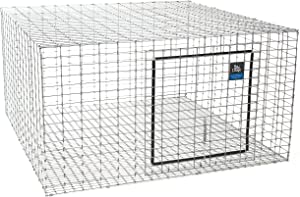 LITTLE GIANT Wire Rabbit Hutch - Pet Lodge - Heavy Duty Galvanized Rabbit Home, Easy to Assemble (24