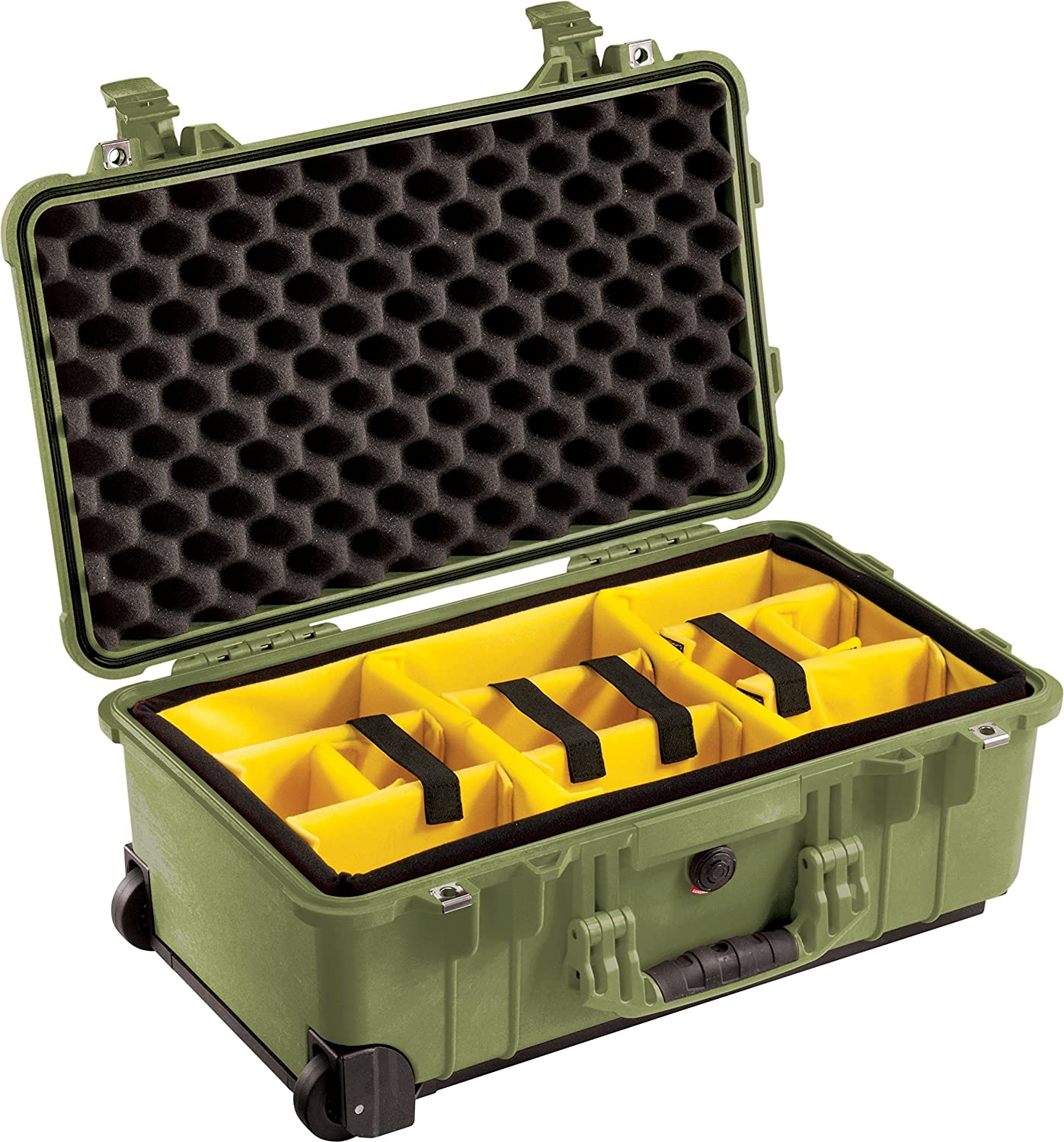 OD Green Pelican 1510 Camera Case with Padded Dividers