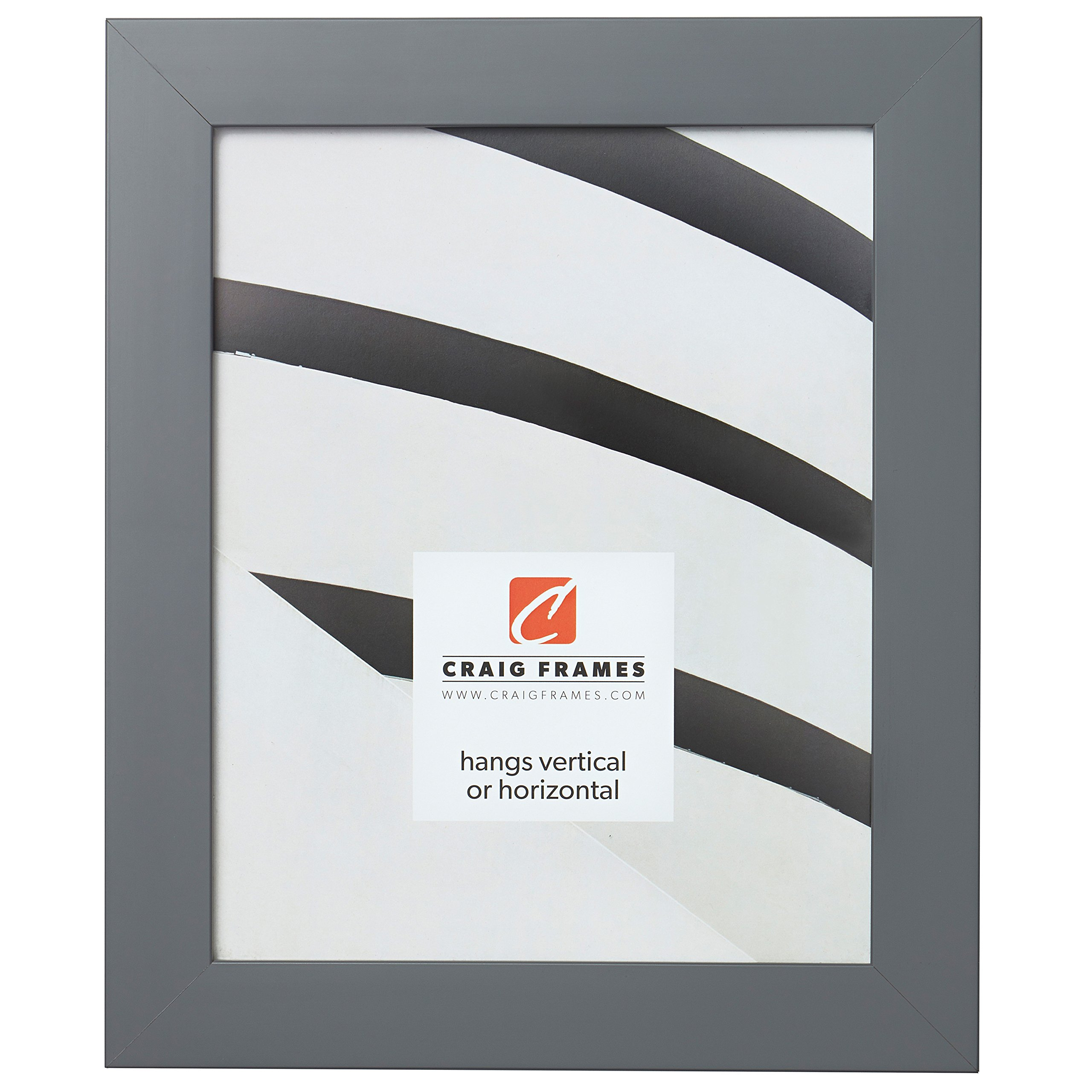 Craig Frames Slater Picture Frame, 11 x 14 Inch, Satin Grey