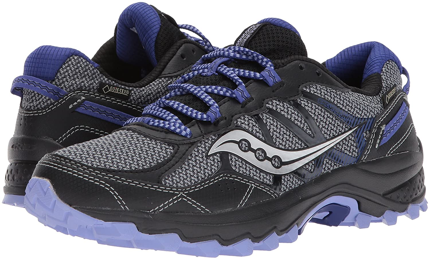 Saucony Women's Excursion Tr11 GTX Running Shoe B01N4GQR7S 11.5 B(M) US|Grey Purple