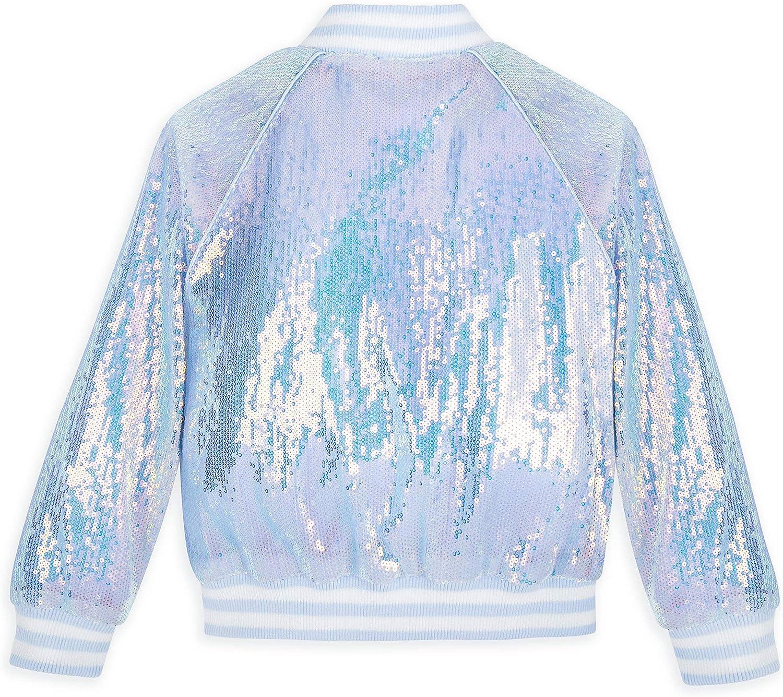 Frozen 2 Disney Anna and Elsa Sequin Varsity Jacket for Girls