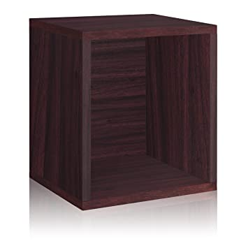 Way Basics Eco Stackable Storage Cube Plus and Cubby Organizer  Espresso   made from sustainable. Amazon com  Way Basics Eco Stackable Storage Cube Plus and Cubby