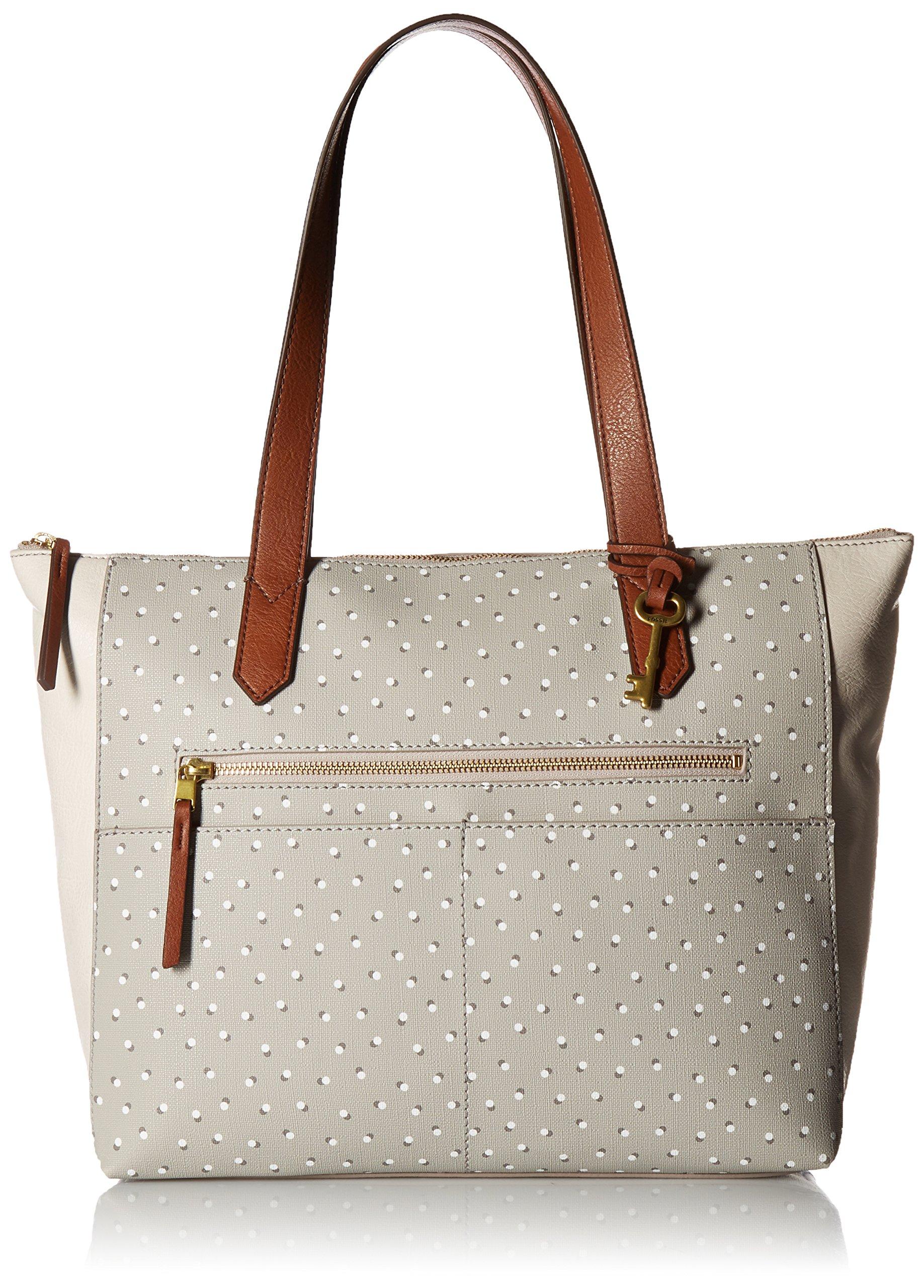 Fossil Fiona E/W Tote Bag, Grey/White