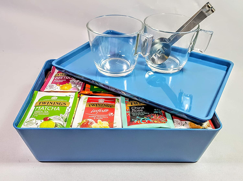 Twinings Take a Break Juego de regalo de té, 100 bolsas de té envolventes más 2 tazas de vidrio templado con exprimidor de bolsa de té de acero inoxidable.: Amazon.es: Alimentación y