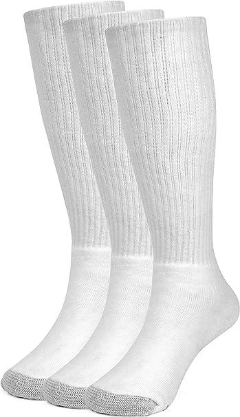 Galiva Calcetas extra suaves de algodón para niño, Calcetines Altos, Calcetines Hasta la Rodilla - 3 pares, Grande, Blanco: Amazon.es: Ropa y accesorios