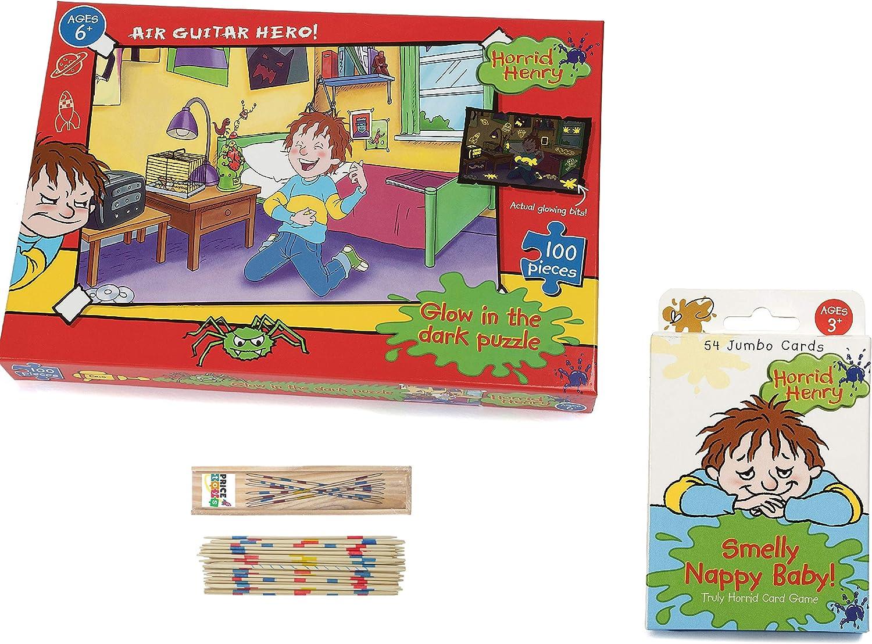 Price Toys Horrible Henry Colección de Juegos - Cosas preferidas Juego de Mesa y Juego de Cartas Verdaderamente Horrible (100pcJigsaw/Card Game): Amazon.es: Juguetes y juegos