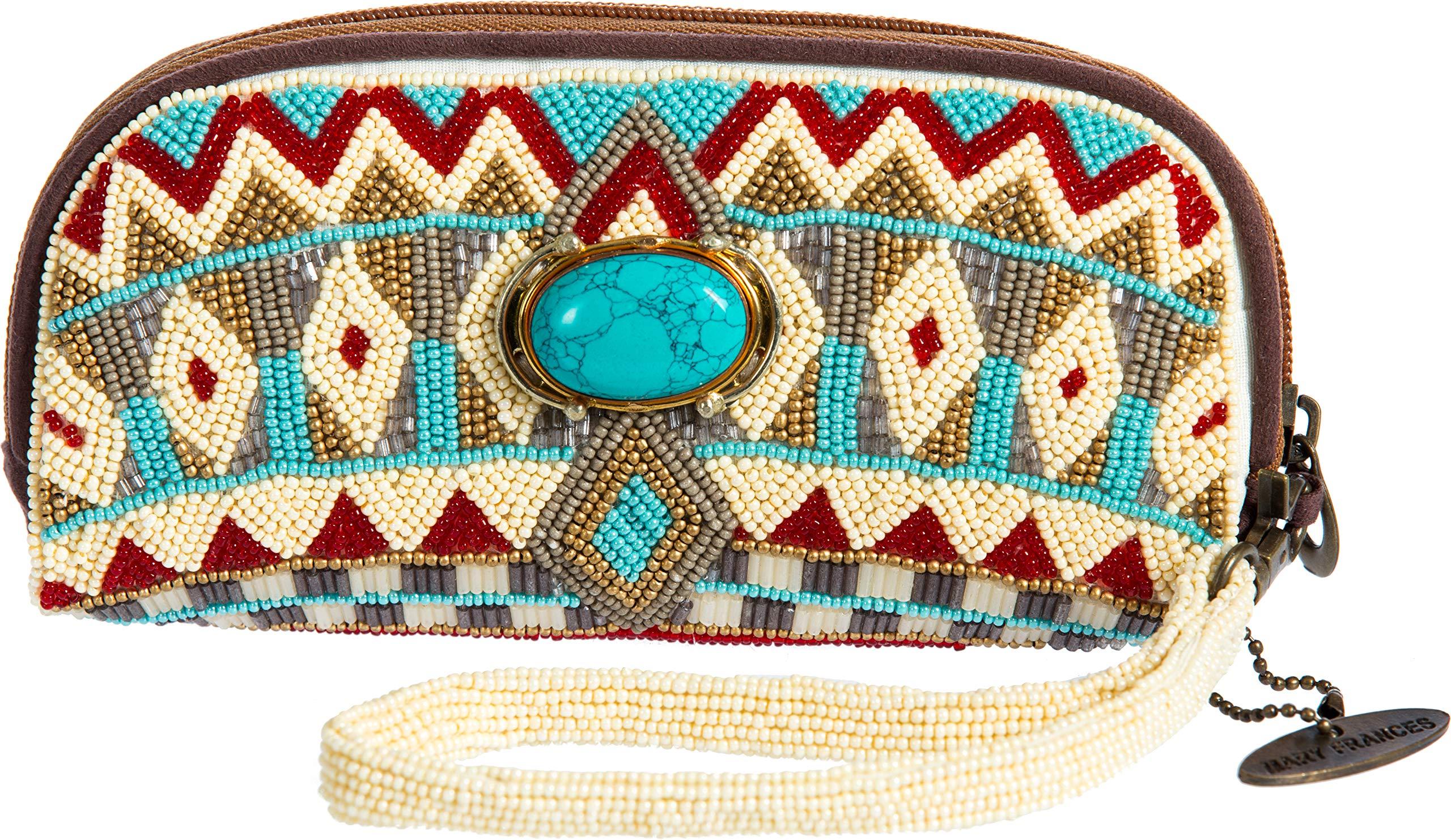 Mary Frances Turquoise Power Eye Glass Cases / Wristlet Handbag