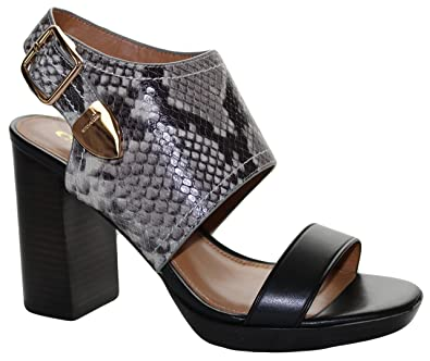 488c78d54504 Image Unavailable. Image not available for. Color  Coach Women s Betsy  Slingback Block Heel Snake Print Sandal ...
