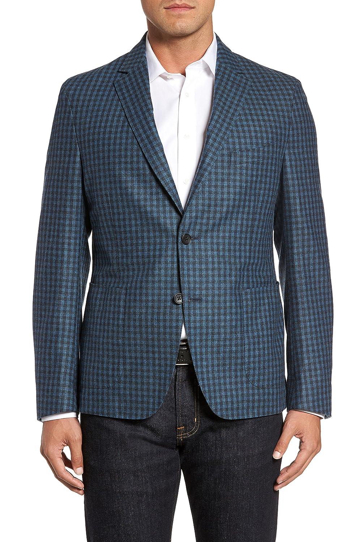 フライント アウター コート FLYNT Check Wool Sport Coat Blue [並行輸入品] B079YLNW44 46_L