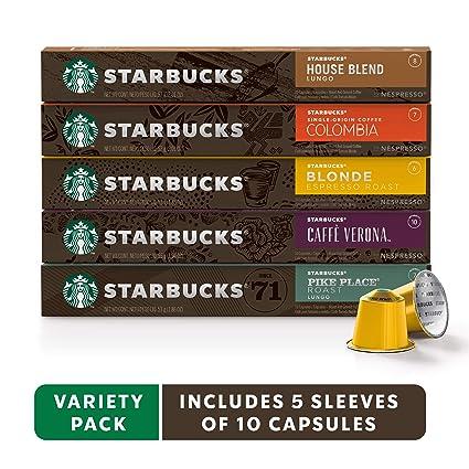 Starbucks by Nespresso, Best Seller Variety Pack (50 ...