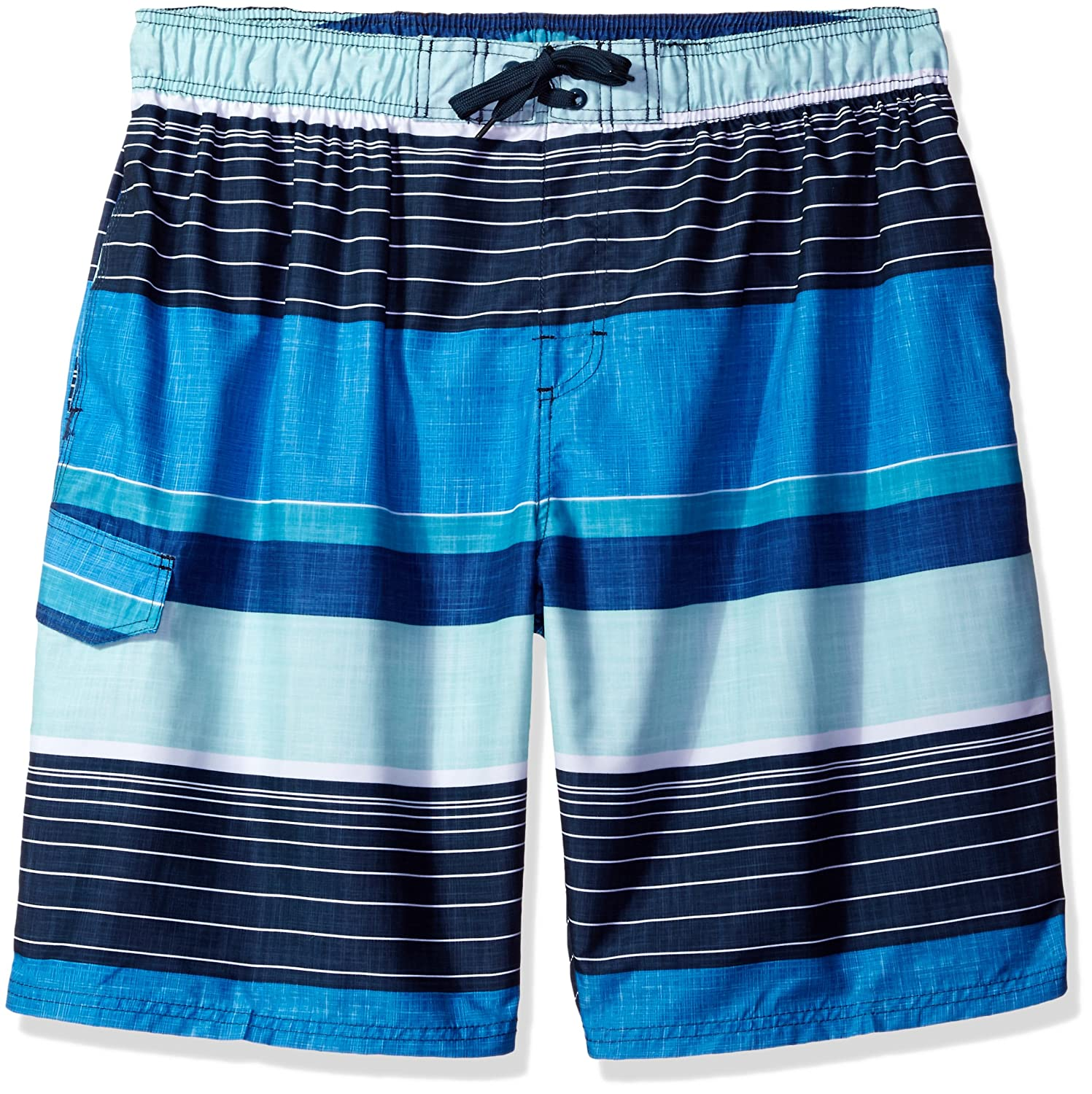 Kanu Surf Mens Big Big Viper Extended Size Stripe Swim Trunk Kanu Surf Men' s Swimwear 4453X
