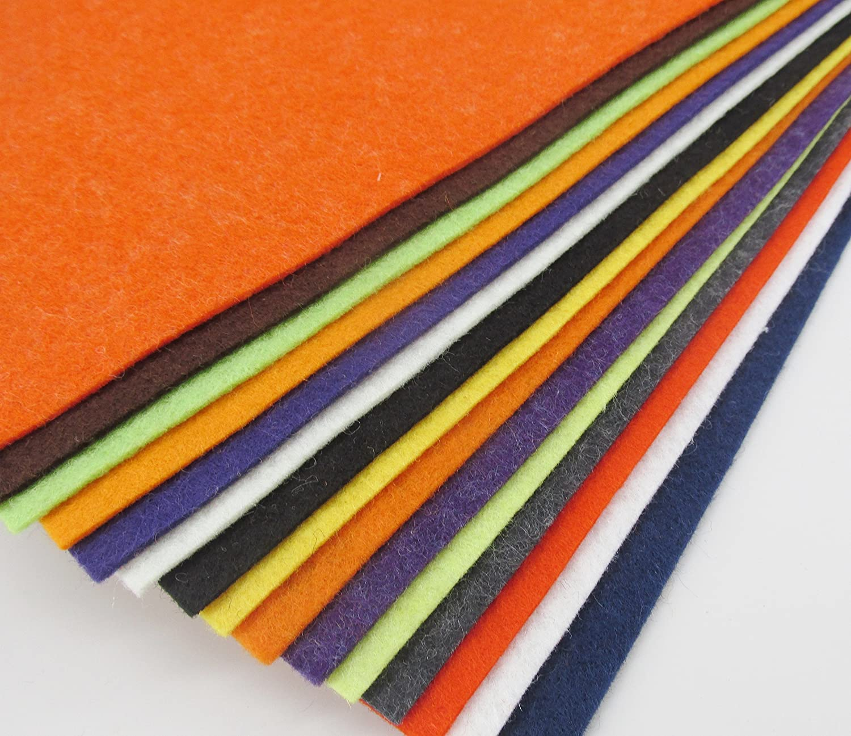 "Merino Wool blend Felt Sheets 25-12/""X12/""  Rainbow Colors Collection"