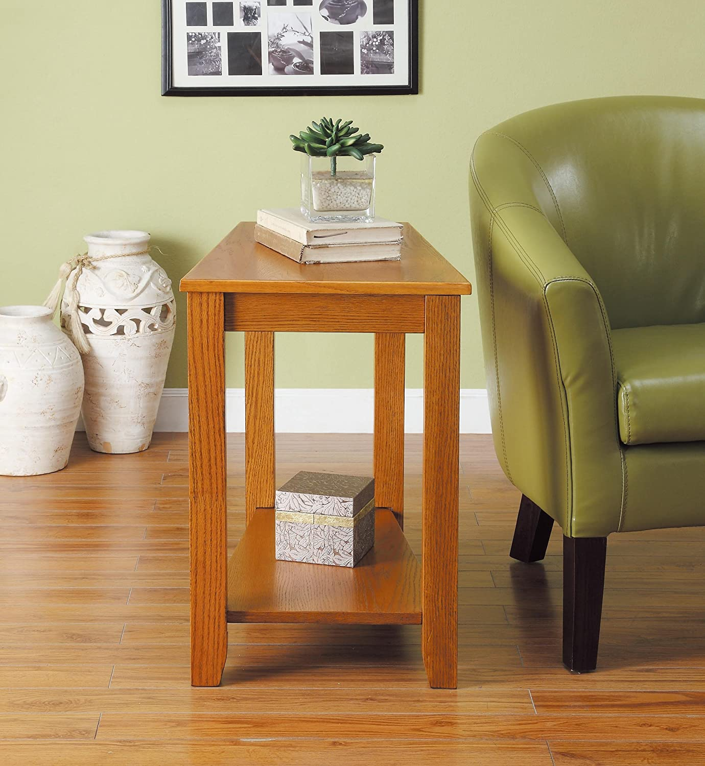 Amazon Homelegance 4728AK Chair Side Table Oak Finish