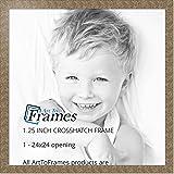 ArtToFrames 24x24 inch Crosshatch Silver Frame