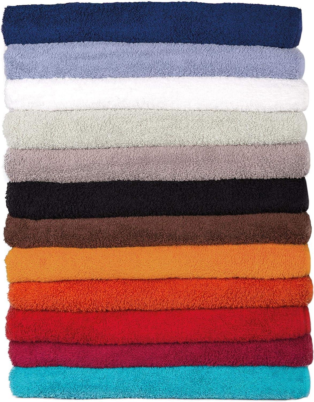 gris//plateado 100 /% algod/ón Toalla de mano 80 x 200 cm CelinaTex Bali 13/colores y muchos tama/ños a elegir, 100 /% algod/ón de rizo, calidad aprox. 500/g//m/²