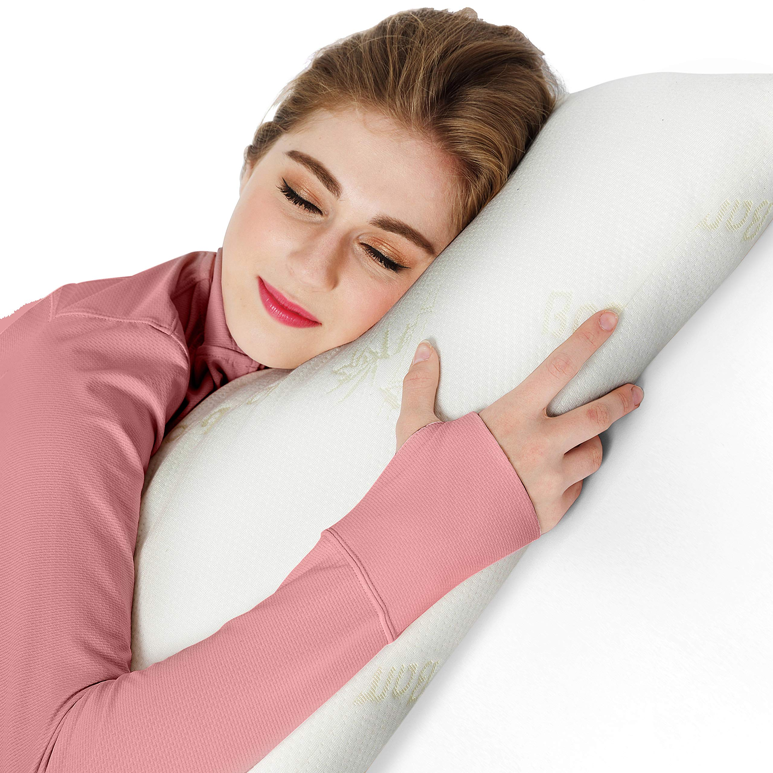 AmazingDreams Full Body Pillow - Side Sleeper Pillow and Pregnancy Pillow with Washable Bamboo Cover by Amazing Dreams (Image #4)