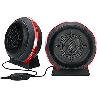 ENHANCE Altoparlanti per computer a LED per giochi con subwoofer, potenti driver da 5 W e controllo del volume in linea - Luci rosse, alimentazione USB 2.0, connessione da 3,5 mm per PC