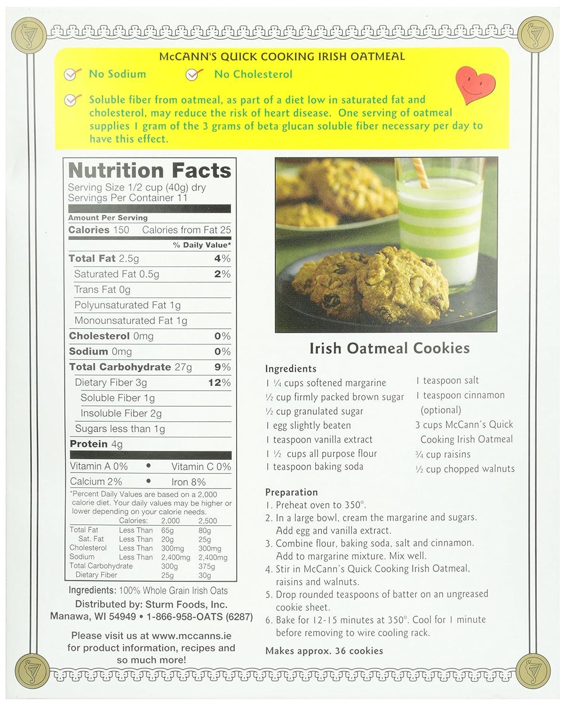 amazon com mccann u0027s quick cooking oatmeal irish oatmeal 16 oz